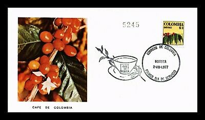 Dr Jim Stamps Coffee Production First Day Issue Colombia Cover