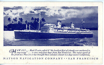 Matson Line's MALOLO ('Flying Fish') of 1927 - as built, brown hull livery (# 2)