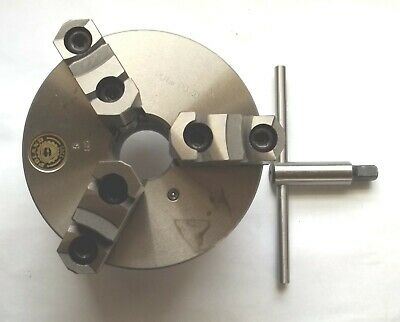 "Poland 3205 5"" 3-Jaw Universal Self-Centering Chuck w/ Wrench"