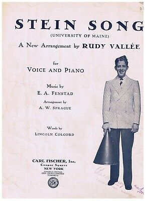 Stein Song University of Maine Sheet Music Lincoln Colcord E Fenstad Rudy Vallee