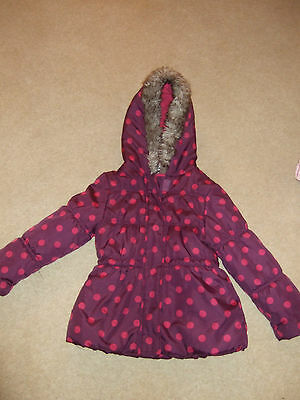 Girls  M & Co Purple and Pink Spotted Jacket for 3 to 4 yers 104cms