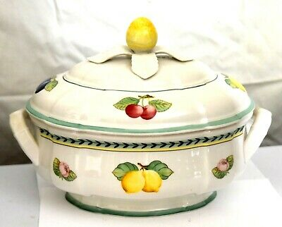 Villeroy & Boch French Garden Fleurence Oval Covered Tureen No Notch EXC.