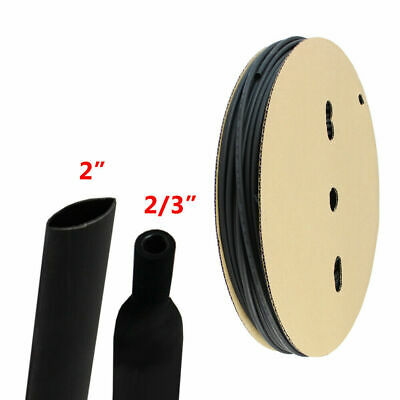 """2"""" Heat Shrink Tubing 3:1 Cable Insulation Wire Sleeve Protector Glue Line 6 ft"""