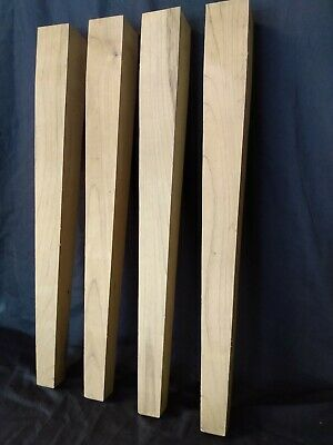 Vintage Unfinished Factory Salvage Reclaim Tapered Furniture Table Legs Parts