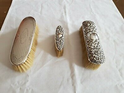 Collection of Antique Silver Backed Dressing Table Brushes