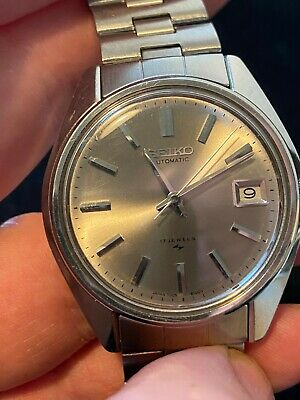 Vintage Seiko Automatic 17 Jewels Date just Mans Wrist Watch no reserve
