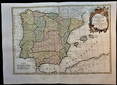 Antique Map Of The Kingdom Of Spain & Portugal 1790