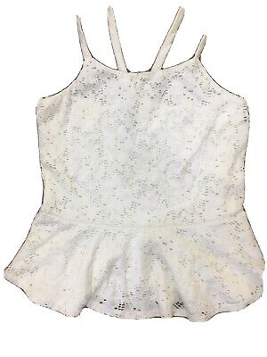 Girls - River Island White Lace Sleeveless Peplum Top - Age 11-12 Years - Summer