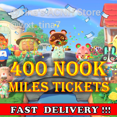 400 NOOK MILES TICKETS ✈️Animal Crossing New Horizons FASTEST!!!