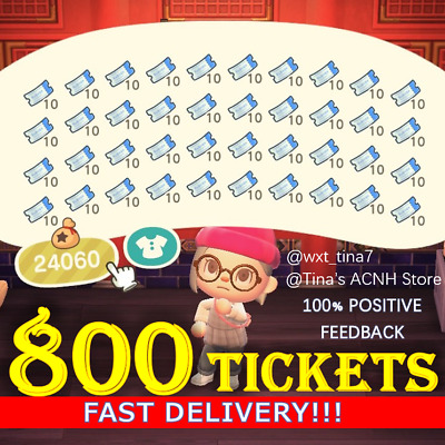 800 NOOK MILES TICKETS ✈️ Animal Crossing New Horizons FASTEST!