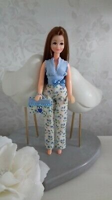 Trouser oufit to fit 1970's Palitoy Pippa/Dawn doll - OUTFIT ONLY