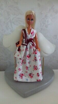 Maxi dress to fit 1970's Palitoy Pippa/Dawn doll - OUTFIT ONLY