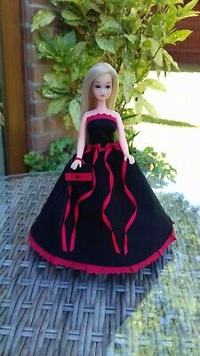 Long ballgown dress to fit 1970's Palitoy Pippa/Dawn doll - OUTFIT ONLY