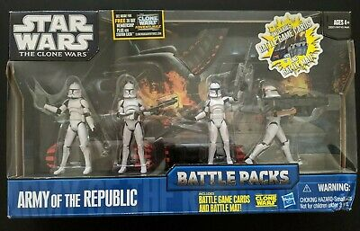 Star Wars The Clone Wars Army Of The Republic Pack Battle Packs NEW DAMAGED BOX
