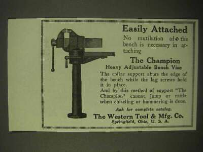 1922 Western The Champion Adjustable Bench Vise Ad