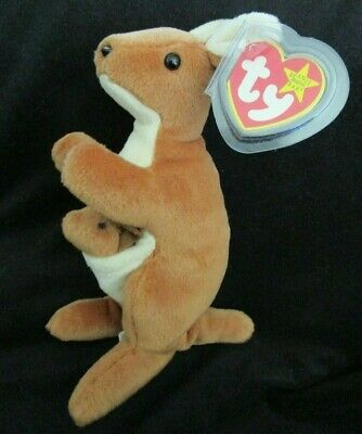 Ty Beanie Baby Pouch the Kangaroo DOB November 6, 1996  MWMT