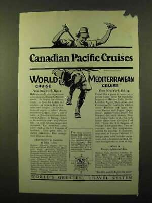 1926 Canadian Pacific Cruise Ad