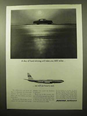 1964 Boeing 707 Jet Ad - A Day of Hard Driving