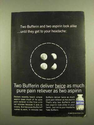 1965 Bufferin Pain Reliever Ad
