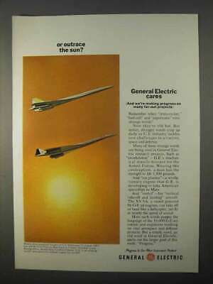 1966 General Electric Jet Engines Ad - Outrace the Sun