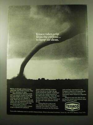 1969 Texaco Oil Ad - A Tip From The Cyclone