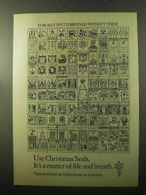 1970 Christmas Seals Ad - Isn't Christmas Without