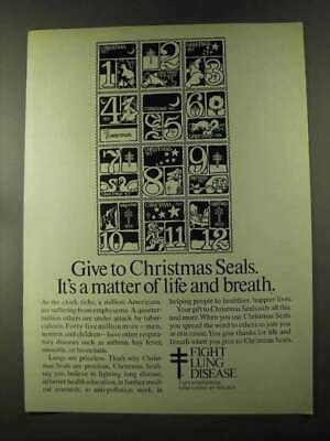 1973 Christmas Seals Ad - Matter of Life and Breath