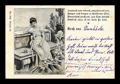 Dr Jim Stamps Woman Sleeping On Bench Austria Switzerland Postcard