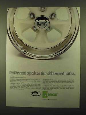 1974 E-T Mags WhiteSpokes Wheels Ad - Different Folks