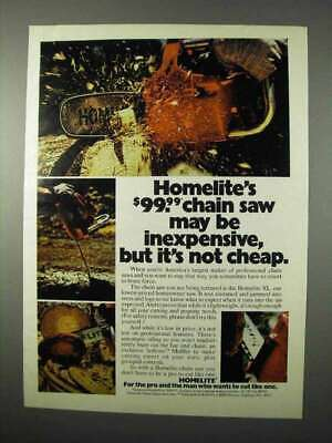 1975 Homelite Chain Saw Ad - May Be Inexpensive