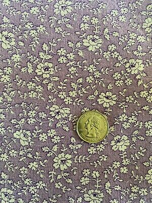 """90FLORAL Full Vtg FEEDSACK Quilt Sewing Fabric Lilac Lavender 36"""" X 45"""""""