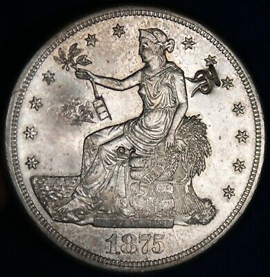 1875-S $ Silver Trade Dollar Coin **ChopMarks**