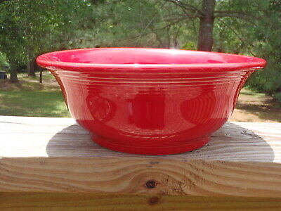 Homer Laughlin Fiestaware FIESTA Glossy Primary Red 9.25 MIXING SERVING BOWL EUC
