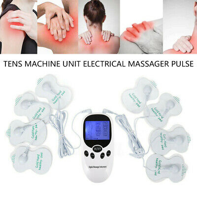 Tens Machine Unit Electrical Massager Pulse Muscle Stimulator Back Pain Relief