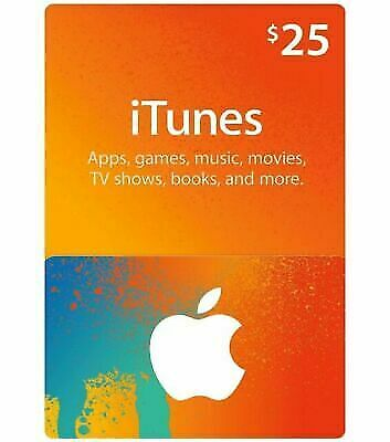 $25 Apple iTunes Gift Card-USA Only-Fast delivery