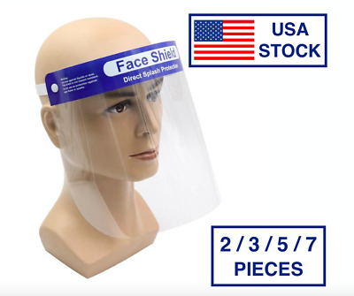 Safety Full Face Shield 2 / 3 / 5 / 7 PACK | CLEAR Anti-Fog Adjustable