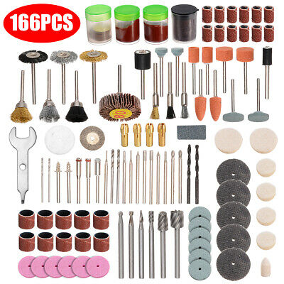 166* Rotary Tool Accessories Grinding Polishing Cutting Bit Kit Set for Sanding⌒