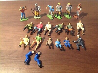 Britains farm toys figures and drivers. 18 items in total. All in used condition