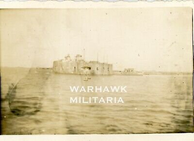 WWII LST-307 Photo Lot: Seaside French Structure, Normandy June 1944