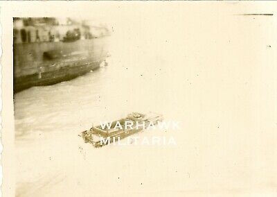 WWII LST-307 Photo Lot: US DUCW Craft In Sea, Normandy June 1944