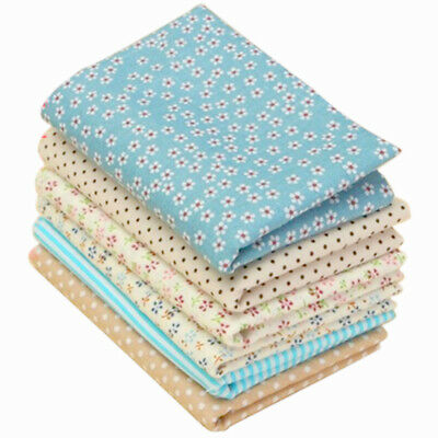 6PC Mixed Cotton Fabric Material Sewing Value Bundle Scraps Offcuts Quilting TOP