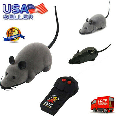 RC Funny Wireless Electronic Remote Control Mouse Mice Rat Pet Toy For Cat Toys