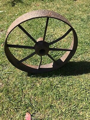 Vintage Cast Iron Agriculture Wheel