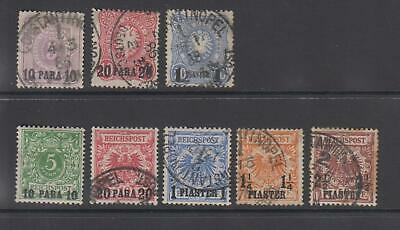 GERMAN PO in the Levant - 8 Stamps - as seen (805)