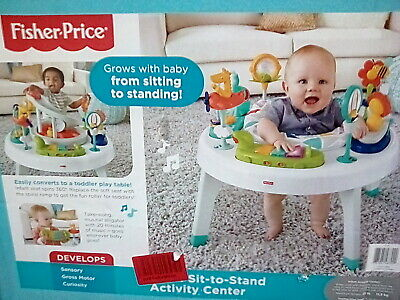 Fisher-Price 2-in-1 Sit-to-Stand Activity Center FFJ01 NEW