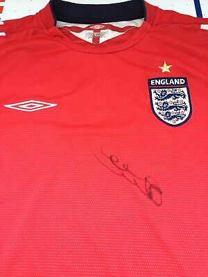 Frank Lampard Signed England Football Shirt Chelsea Legend & Manager COA