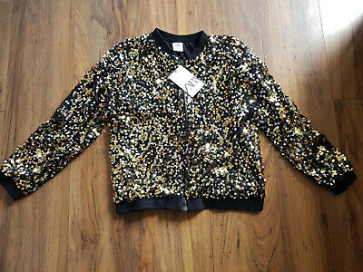 Zara kids Gold/silver/black sequin jacket sparkly size 11 - 12 new with tags