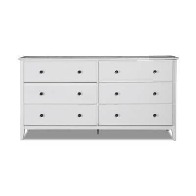 Grain Wood Furniture Greenport 6 Drawer dresser Brushed Grey 6-drawer