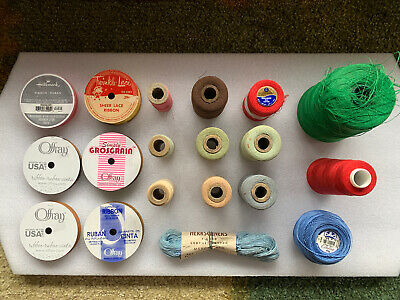 Vintage Thread And Ribbon Lot