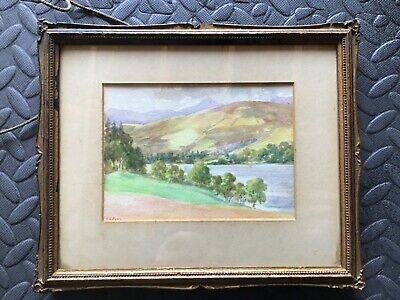 Antique Scottish Landscape Watercolour Painting Signed E A Knox Framed
